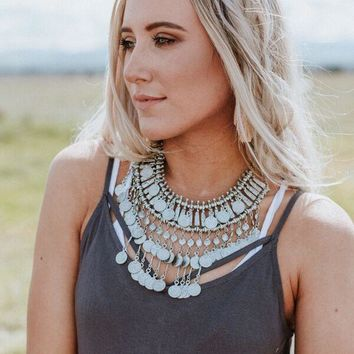 Tibetan Sunrise Statement Necklace