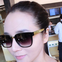 Gold Frame Retro Sunglasses