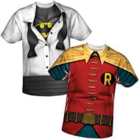 Batman And Robin Costume Sublimated Tees
