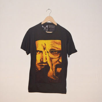 Blue Meth Heisenberg Breaking Bad Walter White Jesse Pinkman Large Colourful T-shirt Tv Show Indie Hipster