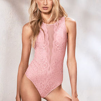 Lace & Mesh Bodysuit - Dream Angels - Victoria's Secret