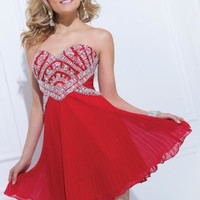 Tony Bowls Shorts Dress TS11471 at Prom Dress Shop