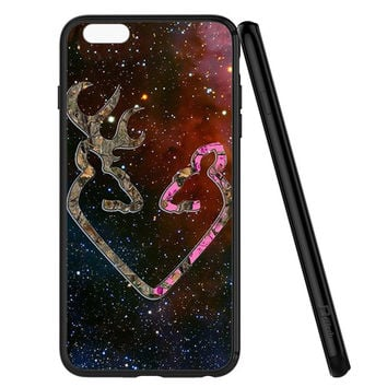 BROWNING STYLE HEART BUCK DOE DEER STICKER DECAL DUCK HUNTING iPhone 6 | 6S Case Planetscase.com