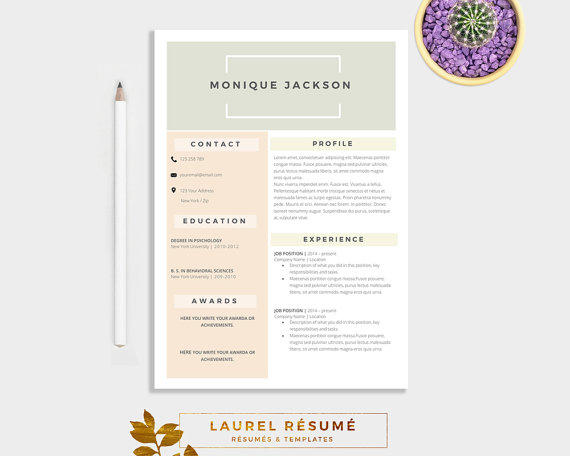 elegant rsum template 2 pages resume cover letter 1 page references cv