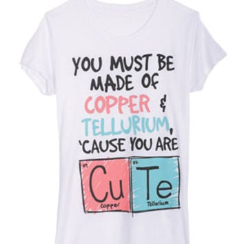 Cute Periodic Table Tee - White