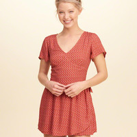 Girls Woven Wrap-Front Romper | Girls Dresses & Rompers | HollisterCo.com
