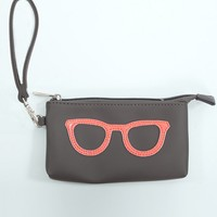Melie Bianco Eye Glasses Wristlet In Neon Pink | MessesOfDresses.com