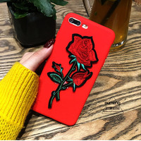 tourtownbeach:Fashion big rose Flower phone case iPhone red