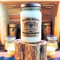Hawaiian-Plumeria Natural Hand Poured Soy Candles