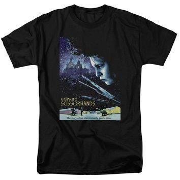 Edward Scissorhands - Poster Short Sleeve Adult 18/1 Shirt Officially Licensed T-Shirt