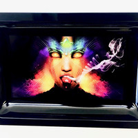Colorful Metal Rolling Tray - Smoking Beauty
