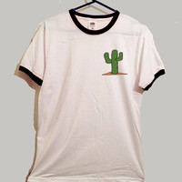 cactus ringer tshirt 3 colours cute desert nature tumblr