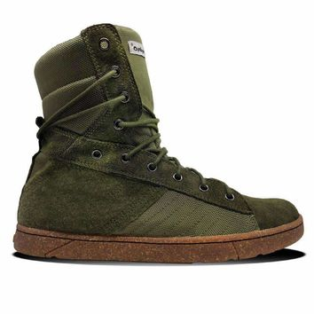 #MyHeyday Olive Tactical Trainer 2.0 High Top Sneakers