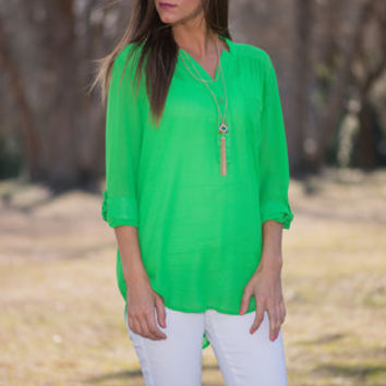 Know What's Best Blouse, Green