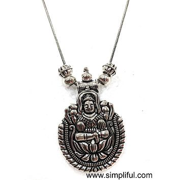Silver oxidized Pendant Necklace - God Pendant Different designs available