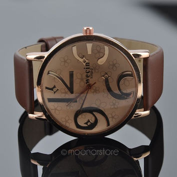 Women Quartz Wrist Watch PU Leather Band HOT = 1932732932