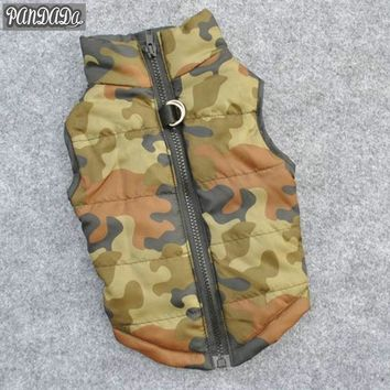 panDaDa Camouflage Winter Warm Coats Jackets Pet Dog Clothes Puppy Soft Padded Vest Harness Costumes   Clothing
