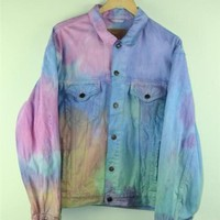 Multicoloured Levis Tie Dye Jacket XL
