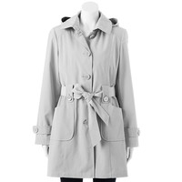 Gallery Hooded Trench Raincoat - Women's