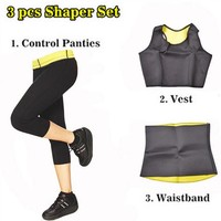 AIKUTAMI Hot Shaper Elastic Neoprene Shapers Sports Clothing Set Women Slimming for Yoga Gym Fitness Lose Weight Plus Size