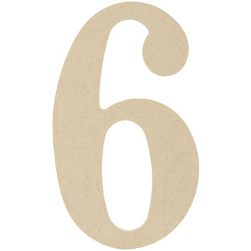 """MDF Classic Font Wood Letters & Numbers 9.5""""""""-6"""