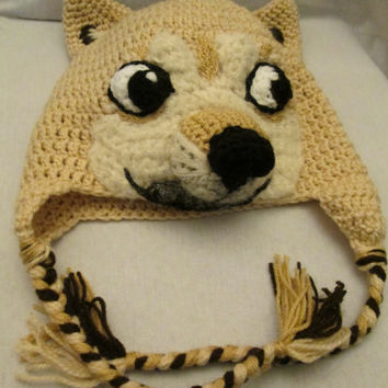 Doge - Shibe meme crochet hat - Made to order
