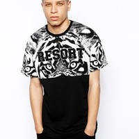 A Question Of with Tiger Resort Printed Sleeves - Black