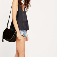 Suede Black Saddle Bag - Urban Outfitters