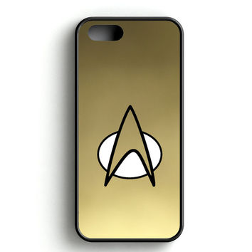 Gold Star Trek Logo Art iPhone 4s iPhone 5s iPhone 5c iPhone SE iPhone 6|6s iPhone 6|6s Plus Case