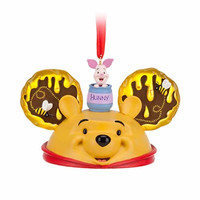 Disney Parks Winnie the Pooh Ear Hat Christmas Holiday Ornament New with Tags