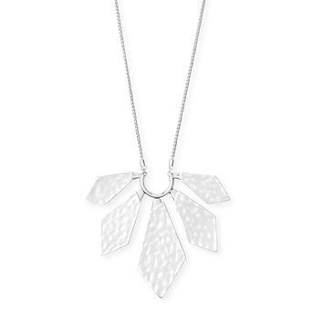 Kendra Scott - Mari Long Pendant Necklace in Bright Silver