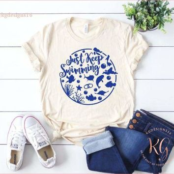 Just Keep Swimming Finding Nemo Disney Park Womens Shirt