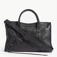 BALENCIAGA Classic City small grained leather shoulder bag