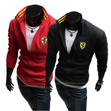 Men Hoodies Print Tops Casual Jacket [6528702083]