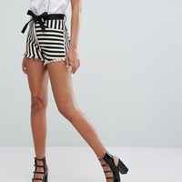 Lost Ink Shorts In Stripe at asos.com
