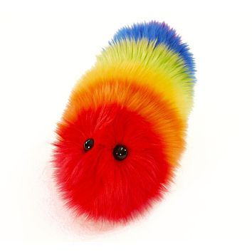 Bow the Rainbow Snuggle Worm Stuffed Animal Plush Toy