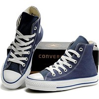 """""""Converse"""" Fashion Casual Running Canvas Flats Sneakers Sport Shoes Navy blue G"""