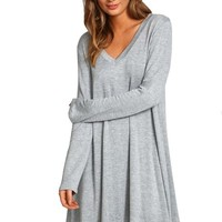 Sheinside Women's Long Sleeve Asymmetric Loose Dress