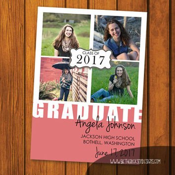 College Graduation Announcement / Graduation / College / Announcement / High School / High School Graduation / Photo Announcement