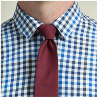 Burgundy Check Tie - Dally