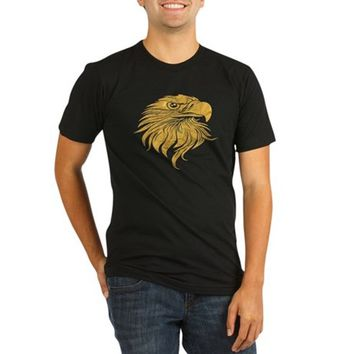 Golden Eagle Head Organic Men's Fitted T-Shirt (dark)