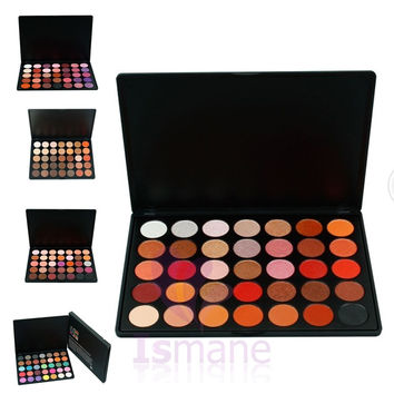 ISMINE Naked Palette 35 Color Eyeshadow Pallete Earth Warm Color Shimmer Matte Eye Shadow Beauty Makeup Set 35B 35F 35O 35T 35P