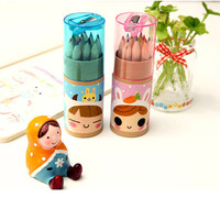 B38 12 Colors Cute Dressmaker Colored Pencils School Supplies Stationery Colorir Marco Raffine Articulos De Papeleria