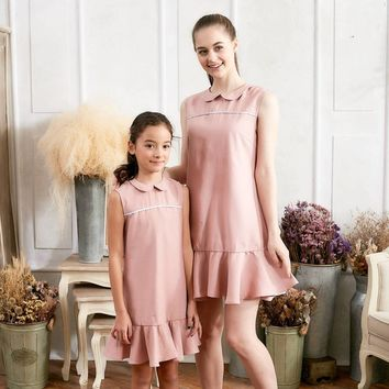 Pink Ruffle Drop Waist Dress | Mommy & Me