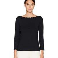 Kate Spade New York Broome Street Scallop Knit Top