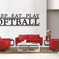 Newclew SOFTBALL lettering decor sports removable Vinyl Wall Decal Home Décor Large