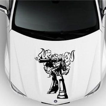 Megatron TRANSFORMERS V2 DECAL STICKER HOOD VINYL GRAPHIC CAR 003