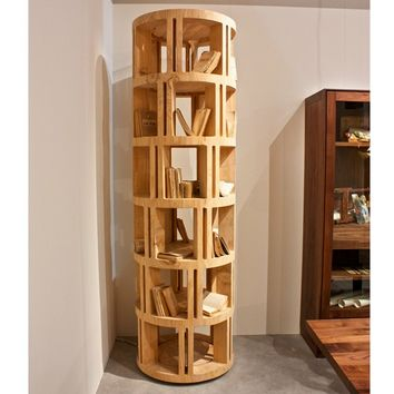 OPEN SOLID WOOD BOOKCASE TORRE LIGNEA | RIVA 1920