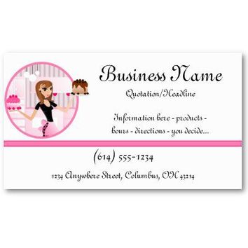 Baker/Bakery/Pastry Cupcake Chef 2 Business Cards from Zazzle.com