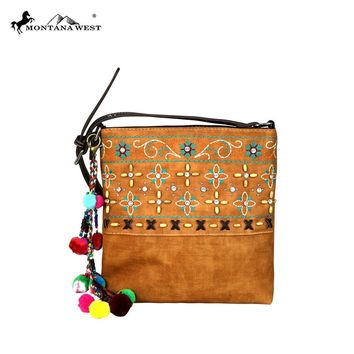 Embroidered Crossbody Handbag